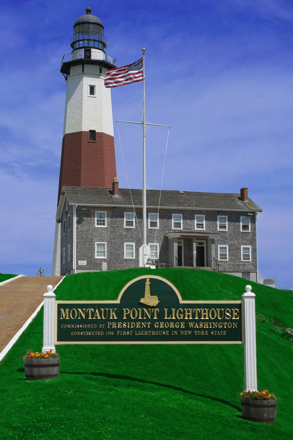 Montauk - The End featuring The Point Lighthouse and Gosman's Dock