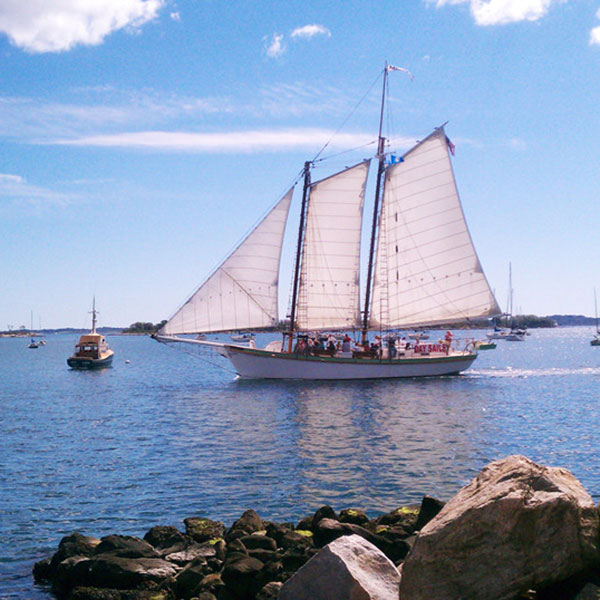 Your Own Private Schooner - Lunch Sail on a Tall Masted Ship