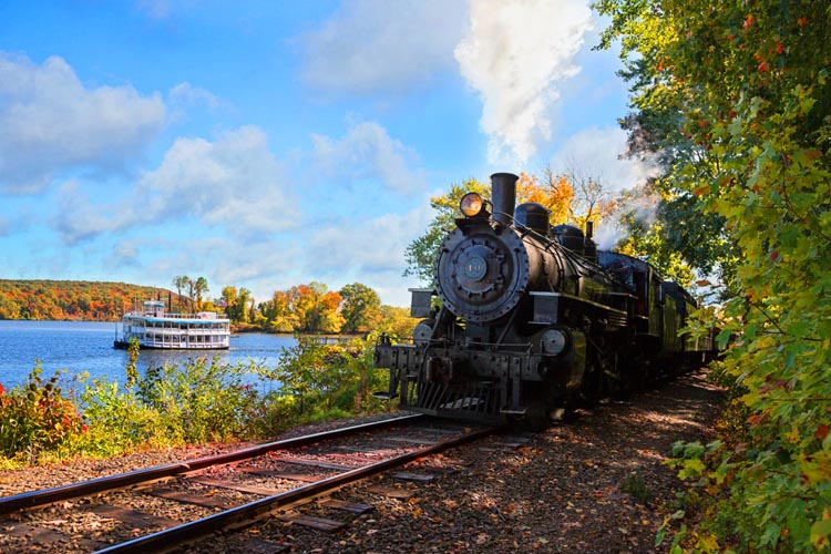 Essex Steam Train and Riverboat Cruise