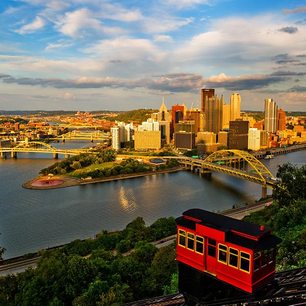 Exploring pittsburgh and falling water group tour by the for Weekend getaways from pittsburgh
