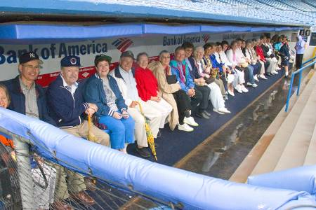 We ♥ Groups - Sitting in the Yankees Dugout